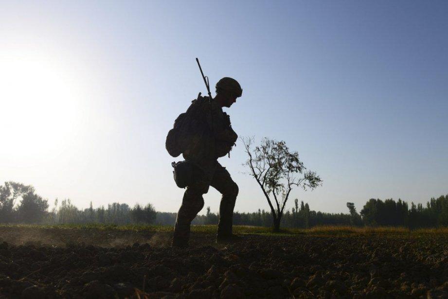 Les États-Unis comptent encore68000 soldats basésen Afghanistan.... (PHOTO MUNIR UZ ZAMAN, archives AFP)