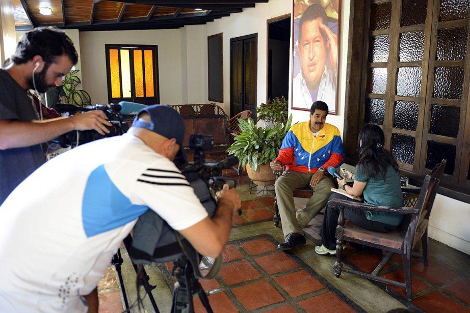 Nicolas Maduro lors de son entretien avec l'AFP.... (Photo: AFP)