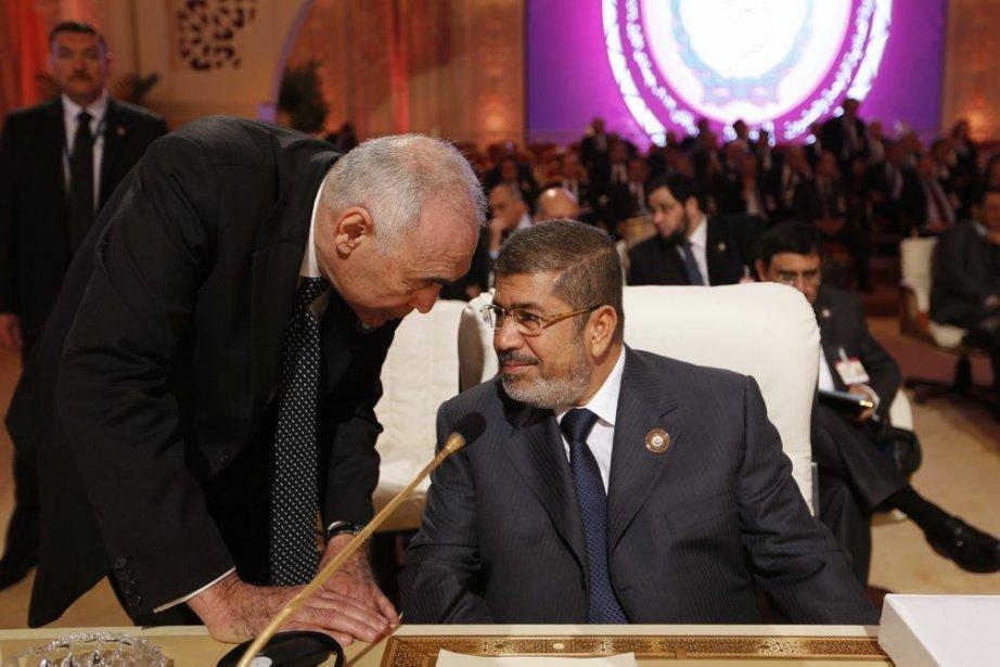 Le ministre égyptien des Affaires étrangères, Mohamed Kamel... (PHOTO AHMED JADALLAH, REUTERS)
