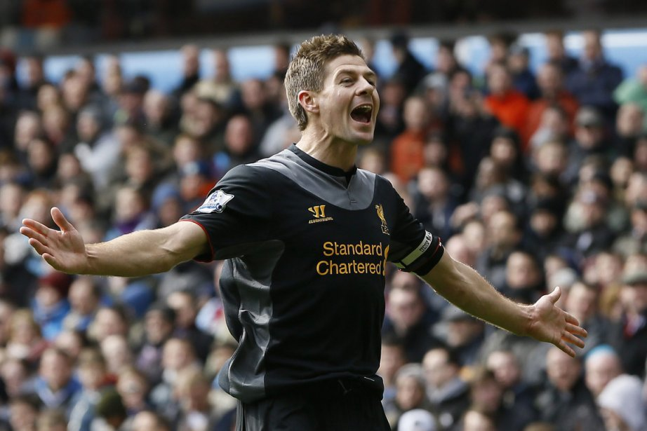 Le capitaine de Liverpool Steven Gerrard.... (Photo : Kirsty Wigglesworth, AP)