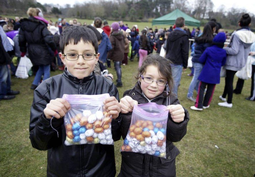 Récolte fructueuse d'oeufs en chocolat pour ces enfants belges! | 31 mars 2013