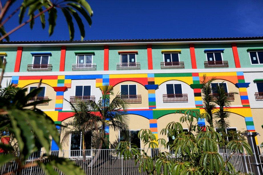 La façade du Legoland Hotel rappelle les constructions... (Photo RelaxNews)
