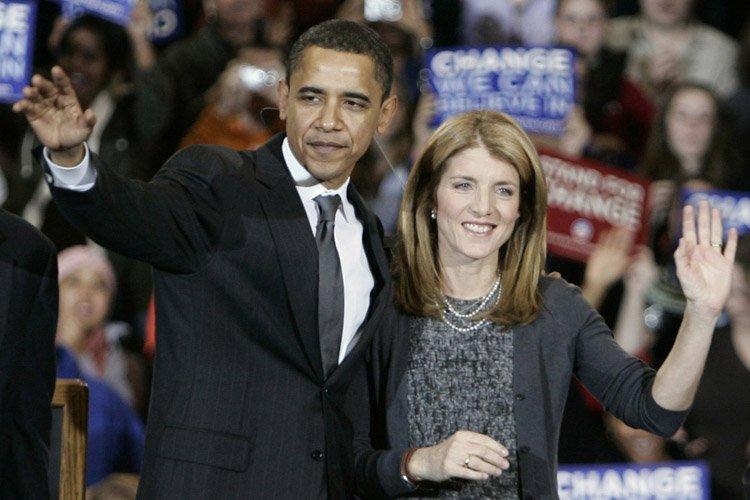 Caroline Kennedy et Barack Obama lors de la... (Archives AP)