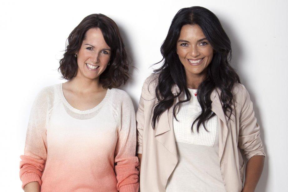 Geneviève O'Gleman et Alexandra Diaz animent Cuisine futée,... (Photo: fournie par Télé-Québec)