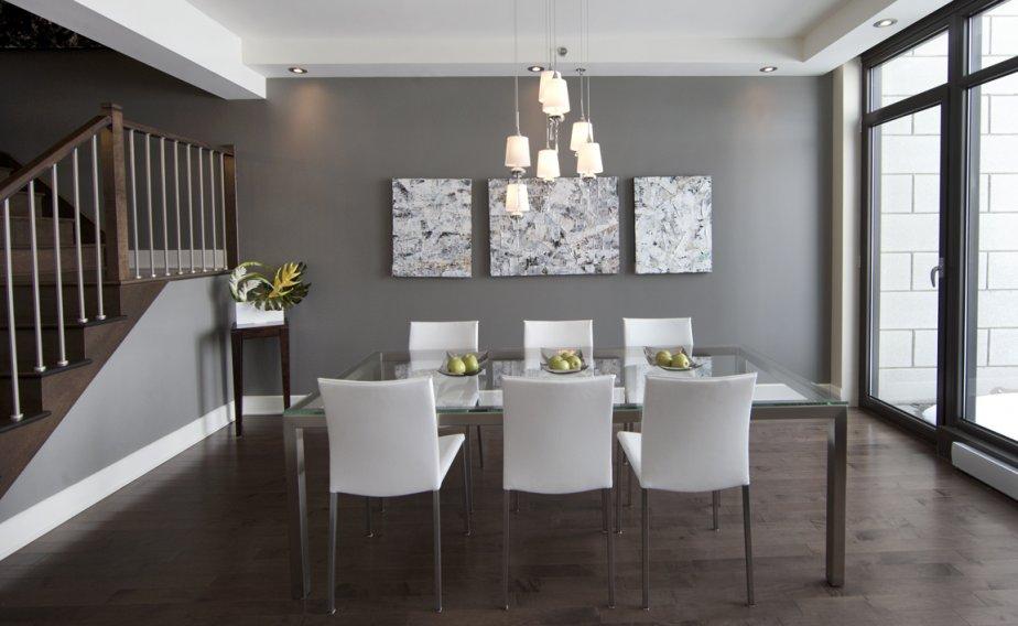 Saint bruno sur le lac danielle bonneau maisons - Salle een diner contemporaine ...