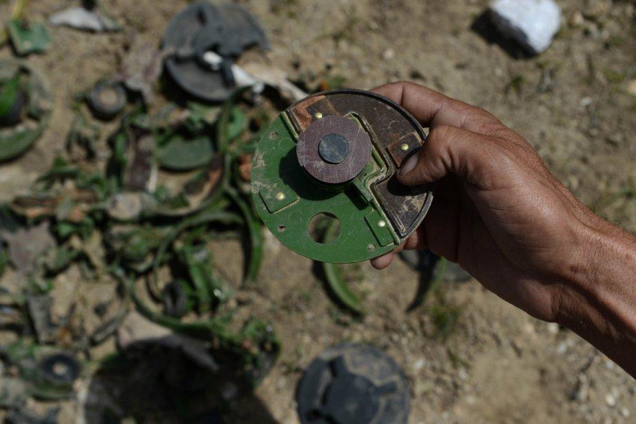 1,2 million de mines et 16 millions de munitions non explosées ont été détruites depuis 1989, et 21000 champs de bataille nettoyés, 4900 zones à risque subsistent, selon l'ONU. | 3 avril 2013