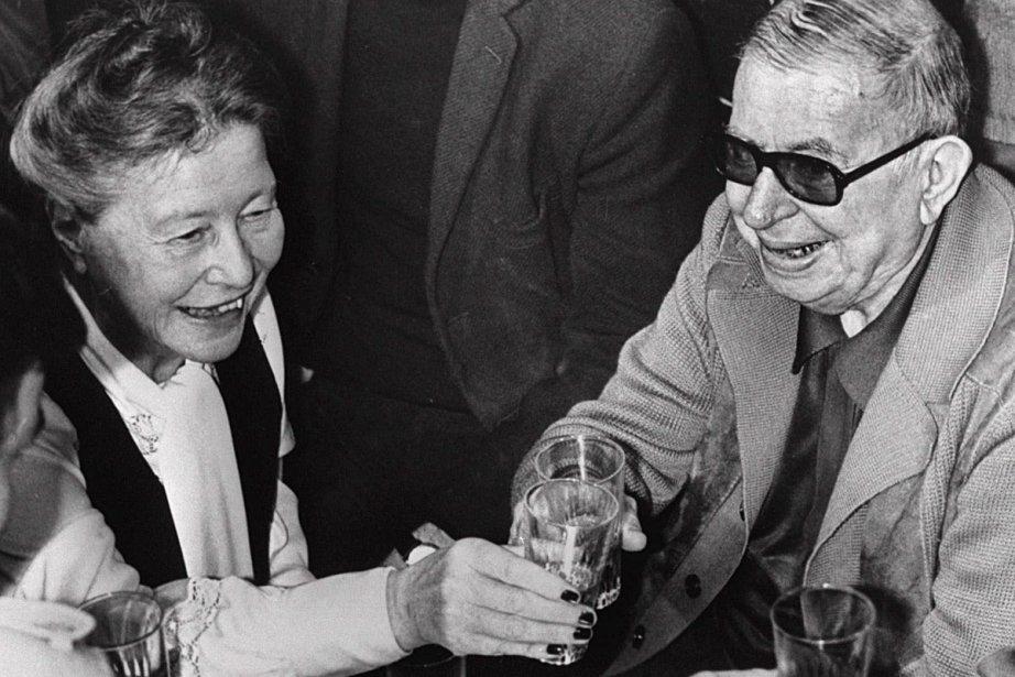 Simone de Beauvoir et le philosophe français Jean-Paul... (Photo: archives La Presse Canadienne)