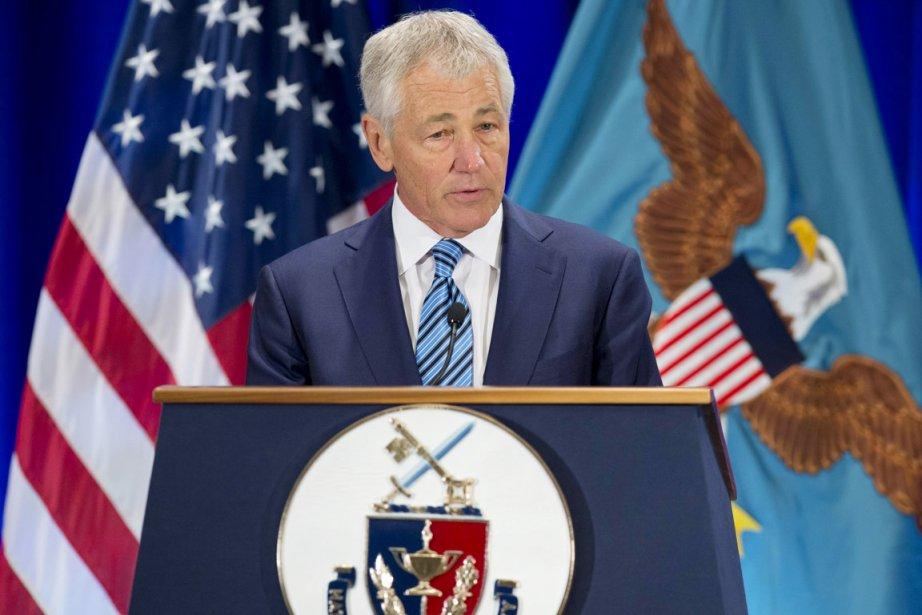 Le secrétaire américain à la Défense Chuck Hagel.... (PHOTO SAUL LOEB, AFP)