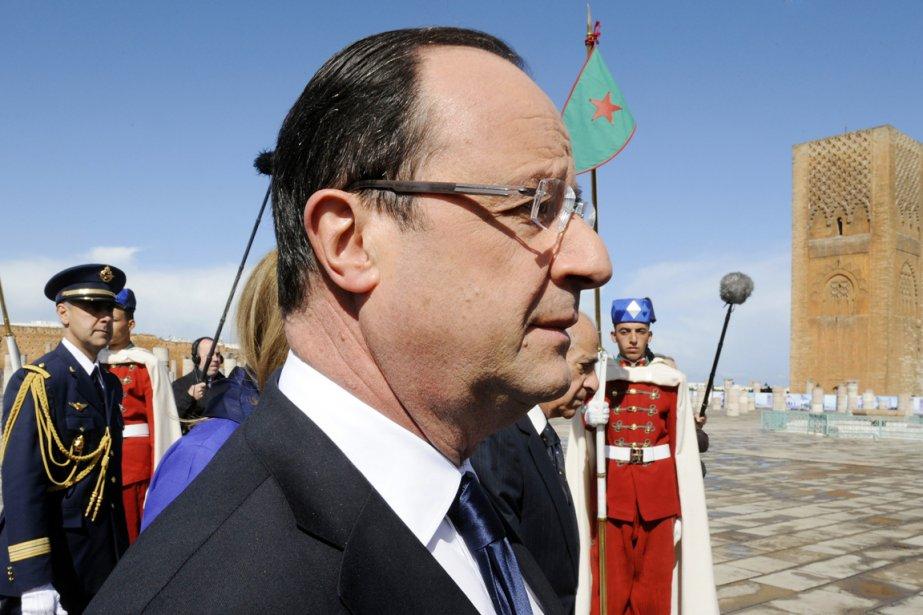 Le président français François Hollande à Rabat, au... (PHOTO FADEL SENNA, AFP)