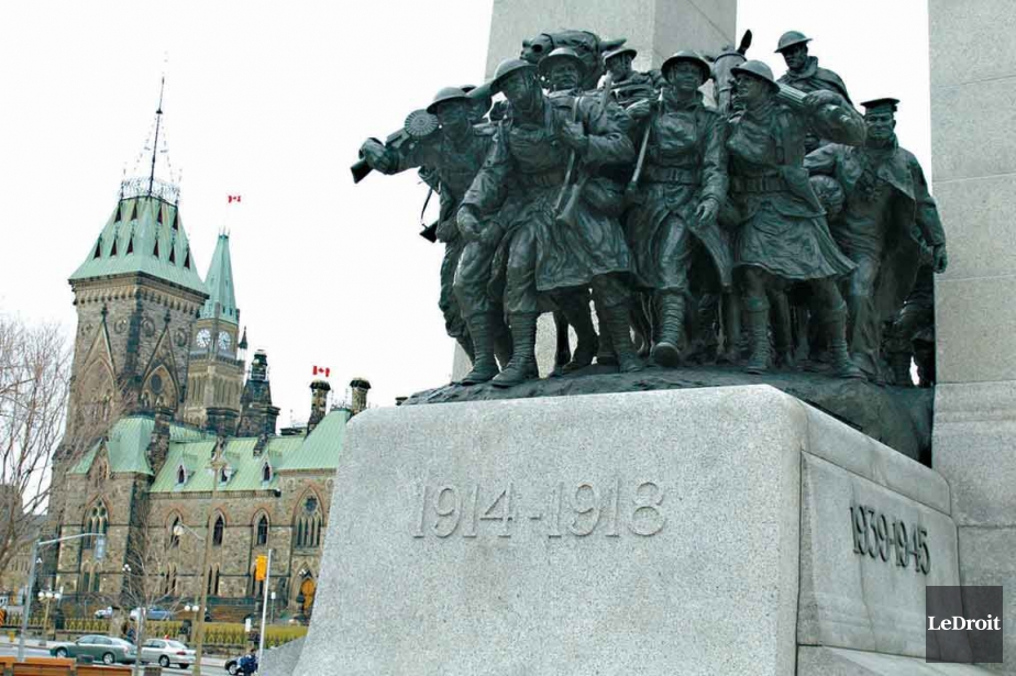 Le Monument commémoratif de guerre à Ottawa, situé... (Archives Le Droit)