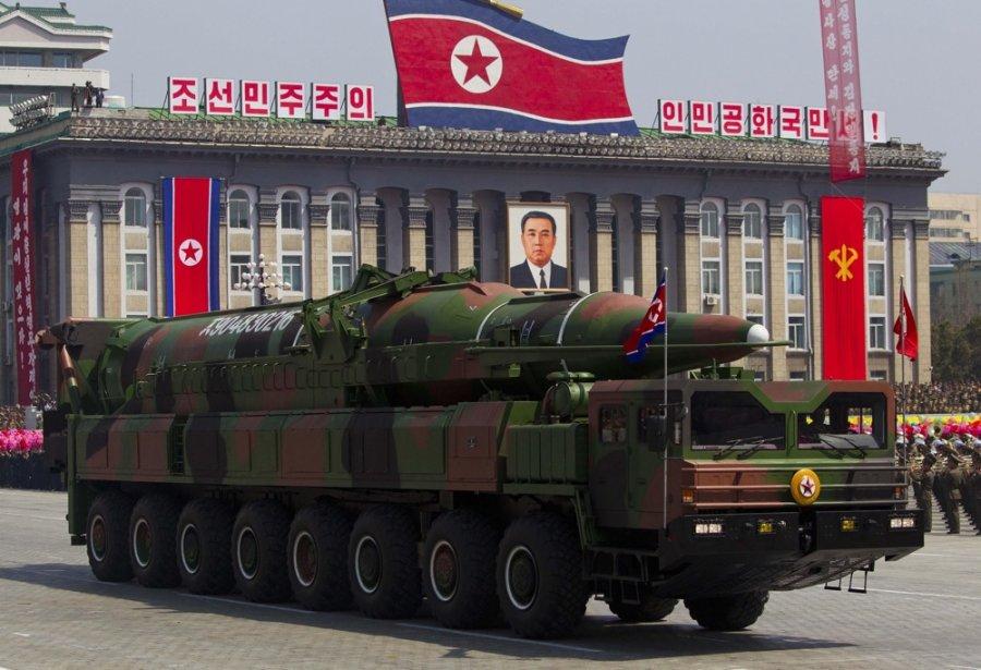 Un défilé militaire à Pyongyang en avril 2012.... (Photo Ng Han Guan, Associated Press)
