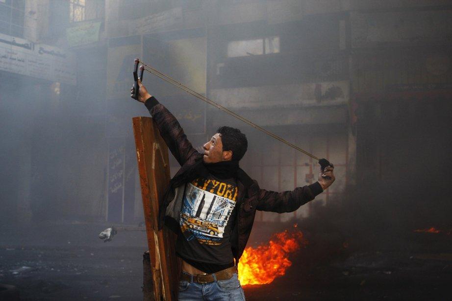 Conflit entre manifestants palestinien et l'armée israélienne à Hebron en Cisjordanie | 5 avril 2013