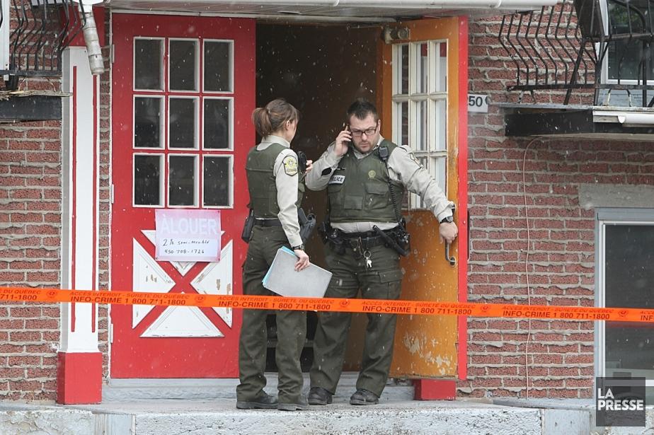 Les policiers ignorent pour le moment si le... (Photo Patrick Sanfaçon, La Presse)
