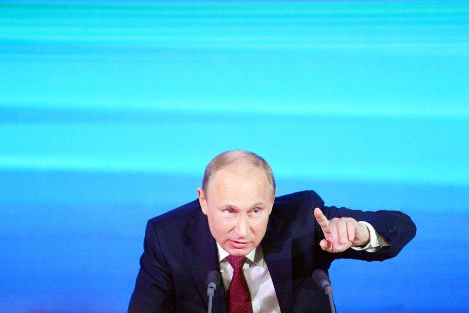 Le président russe Vladimir Poutine n'était pas un... (PHOTO NATALIA KOLESNIKOVA, AFP)