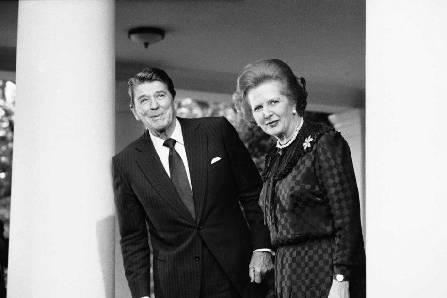 La première ministre Margaret Thatcher et le président américain Ronald Reagan lors d'une visite à Washington en 1982. | 8 avril 2013