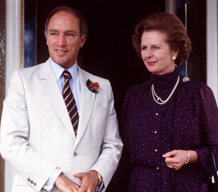 Avec le premier ministre Pierre Elliott Trudeau lors d'une visite en Australie en 1981 | 8 avril 2013
