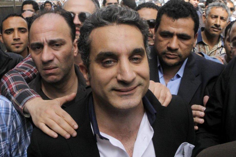 Bassem Youssef est actuellement en liberté sous caution... (Photo Amr Nabil, AP)