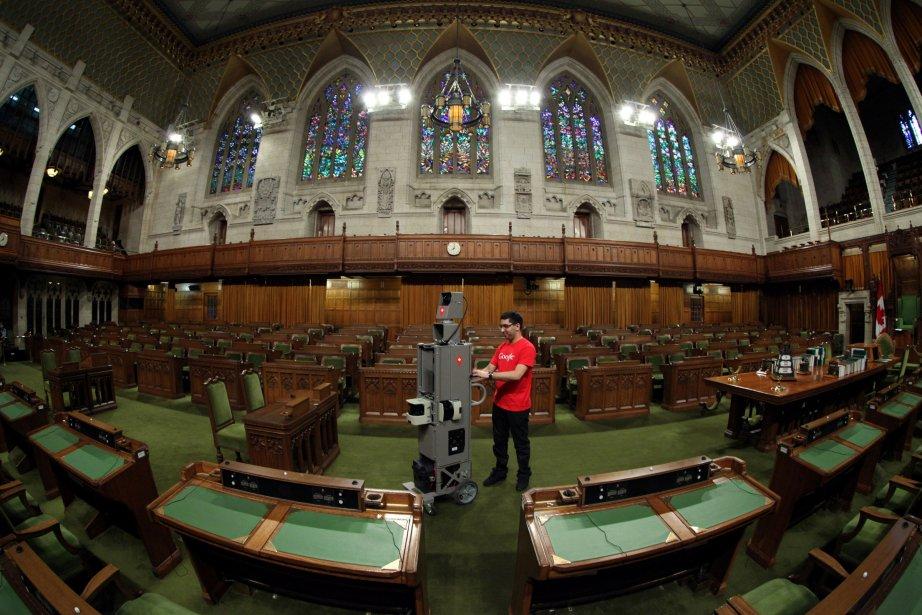 L'appareil de Google Street View a fait le tour de la Chambre des communes. | 9 avril 2013