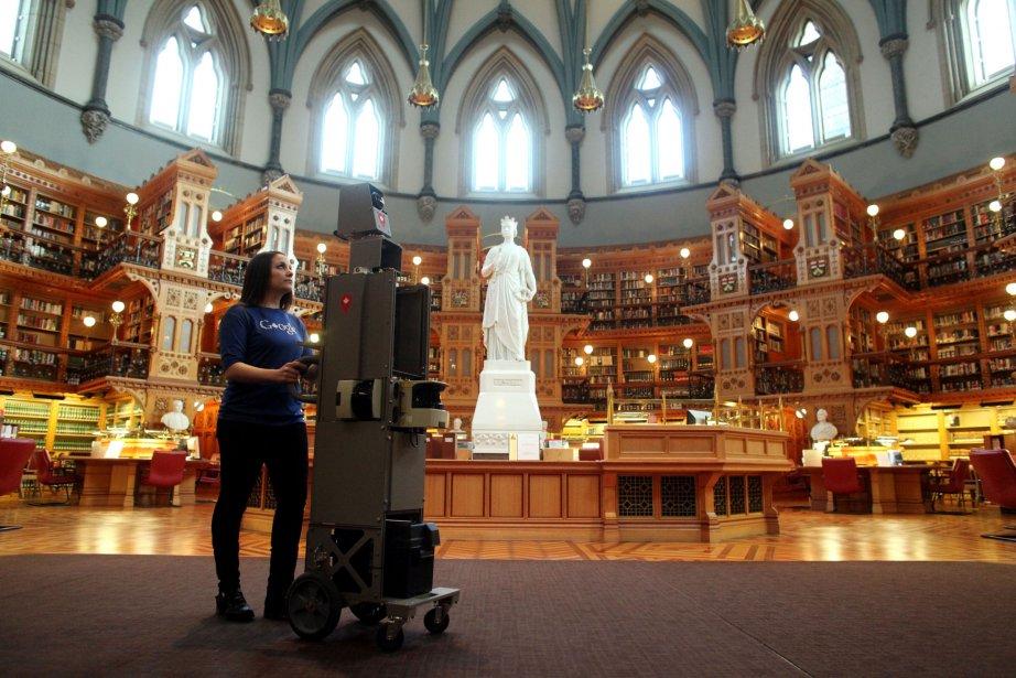 L'appareil de Google Street View est allé visiter la bibliothèque du parlement. | 9 avril 2013