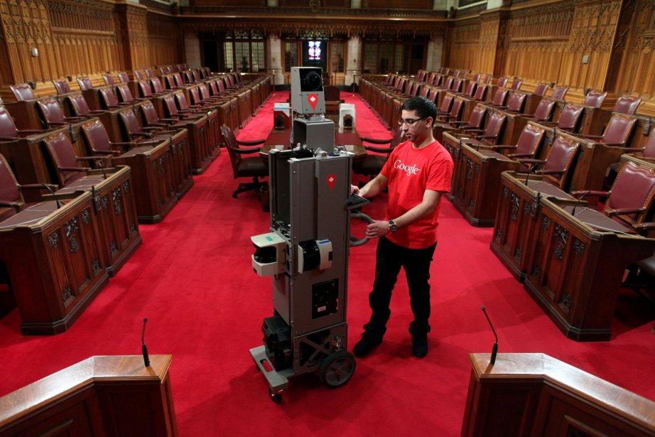 L'appareil de Google Street View se promène au Sénat. | 9 avril 2013