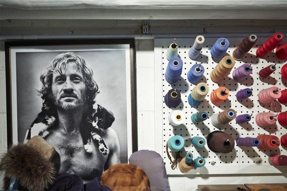 Dans l'atelier Harricana, des bobines de fils. | 10 avril 2013