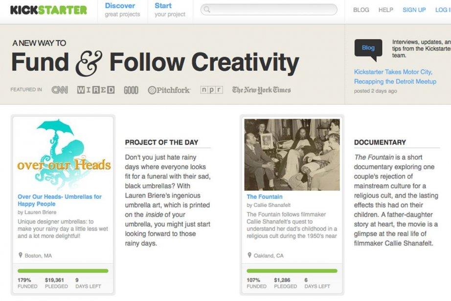 Indiegogo, Haricot, Laplèbe, Fundo, Ecloid et Laruche sont... (Photo tirée du site Kickstarter)