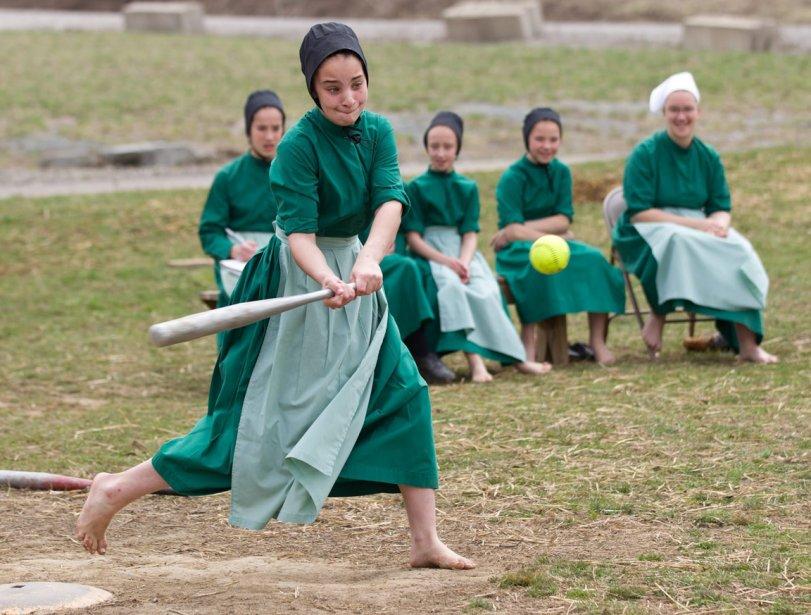 Partie de baseball dans la communauté amish de Bergholz en Ohio | 12 avril 2013