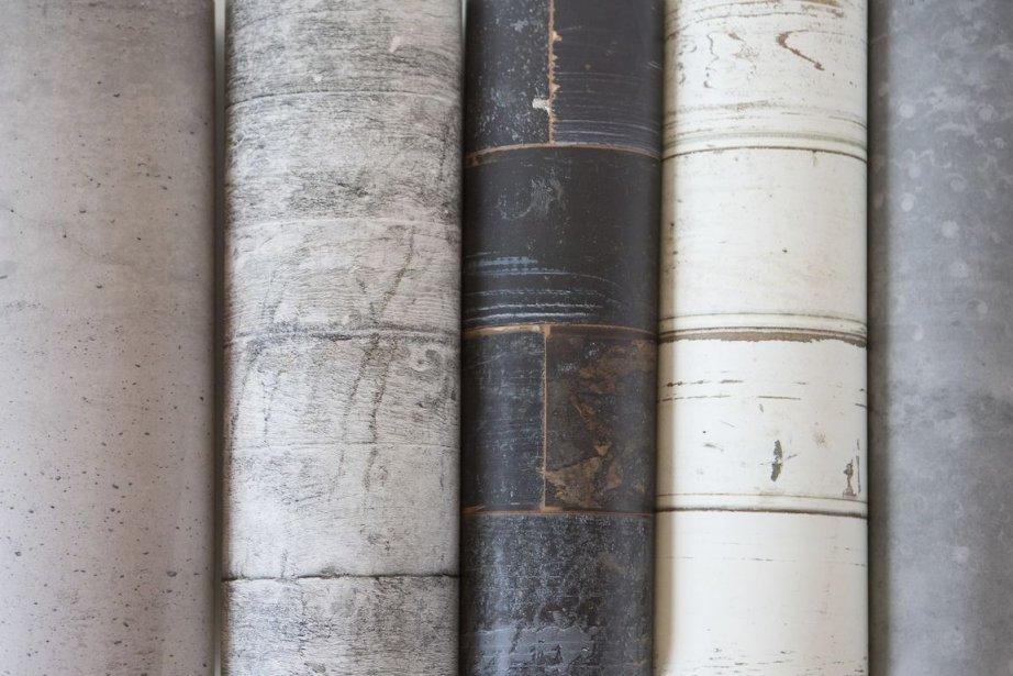 Coup de coeur papier peint trompe l 39 oeil johanne gobeil - Tapisserie imitation bois ...