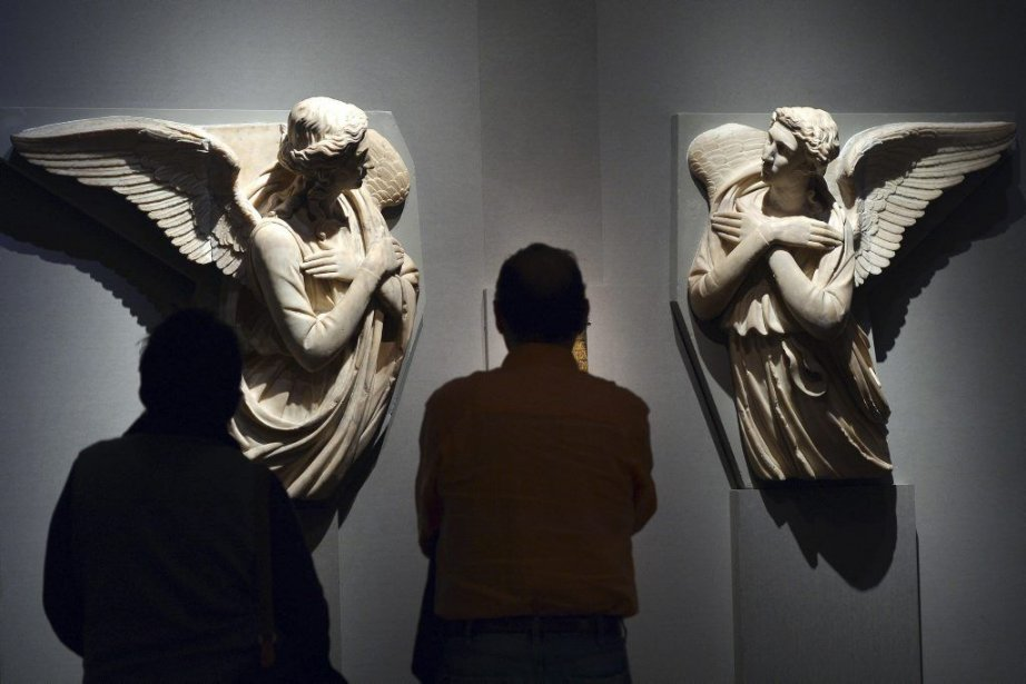 La sculpture Due angeli adoranti de Michel-Ange... (Photo: AFP)