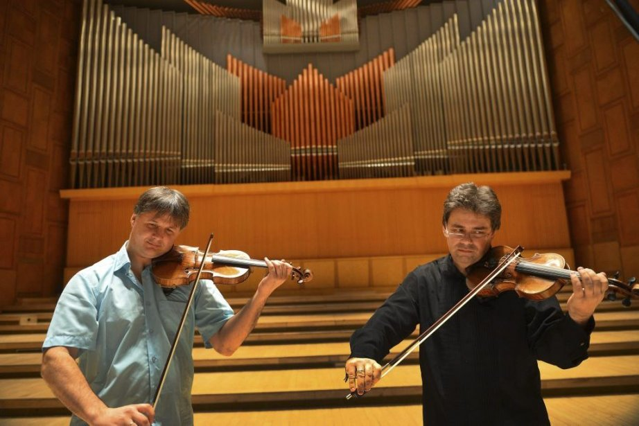 Liviu Prunaru, premier violon solo du Concertgebouw d'Amsterdam,... (Photo: AFP)