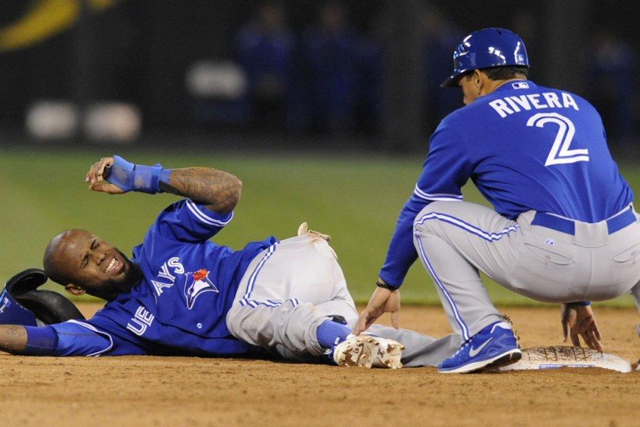 Jose Reyes s'est tordu la cheville en tentant... (Photo : Dave Kaup, Reuters)