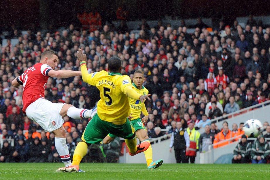 Lukas Podolski a scellé la victoire d'Arsenal dans... (Photo : AFP)