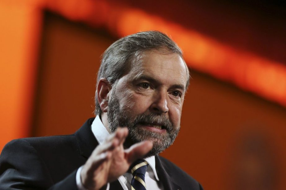 Le chef Thomas Mulcair a obtenu l'appui de92,3%... (PHOTO CHRISTINNE MUSCHI, REUTERS)