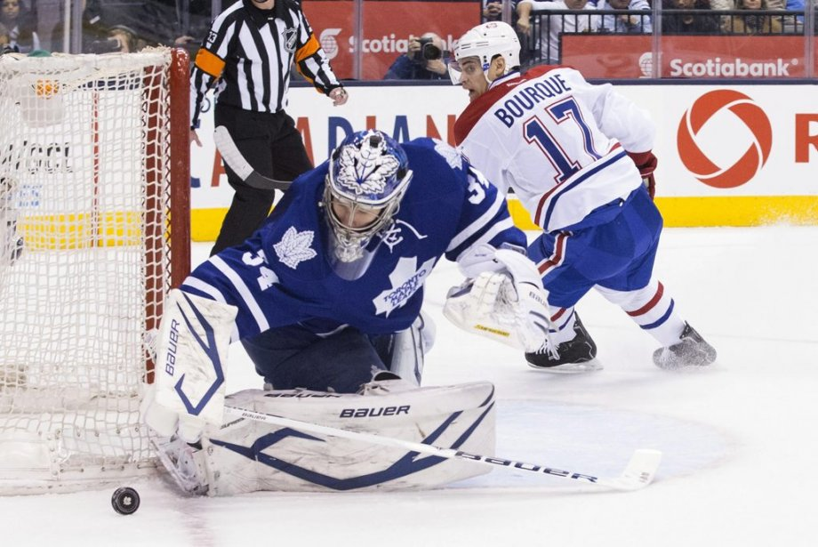 James Reimer et Rene Bourque (Photo Chris Young, La Presse Canadienne)