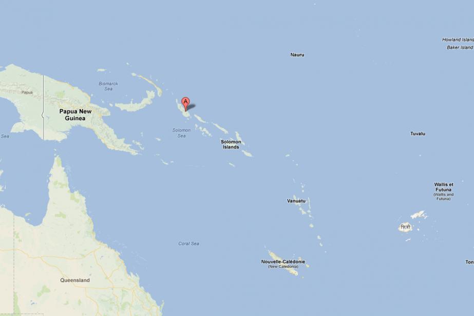 Le séisme a eu lieu dans l'océan Pacifique,... (Carte Google)