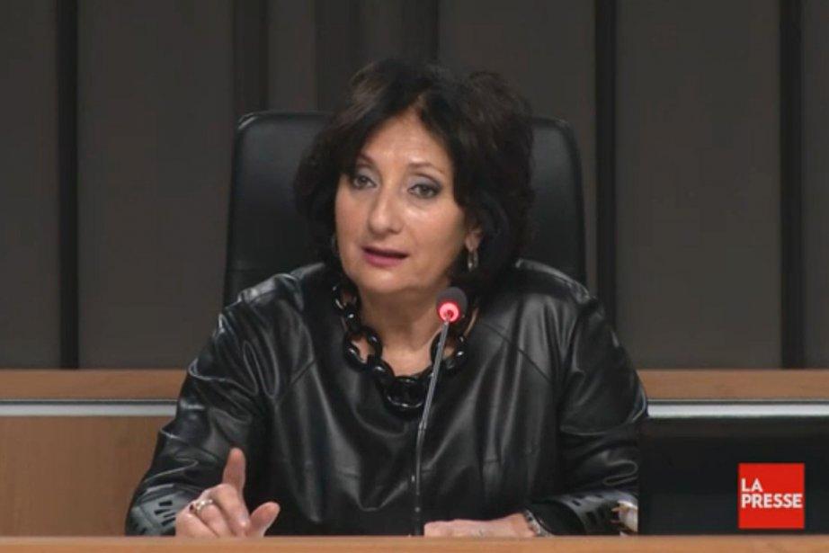 La juge France Charbonneau.... (Photo tirée d'une vidéo, La Presse)