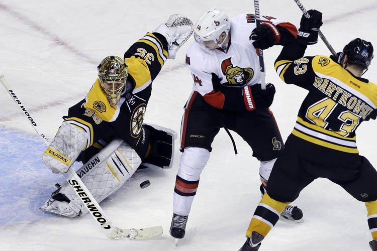 La LNH a reporté un match Sénateurs-Bruins prévu en soirée au TD... (Photo: AP)