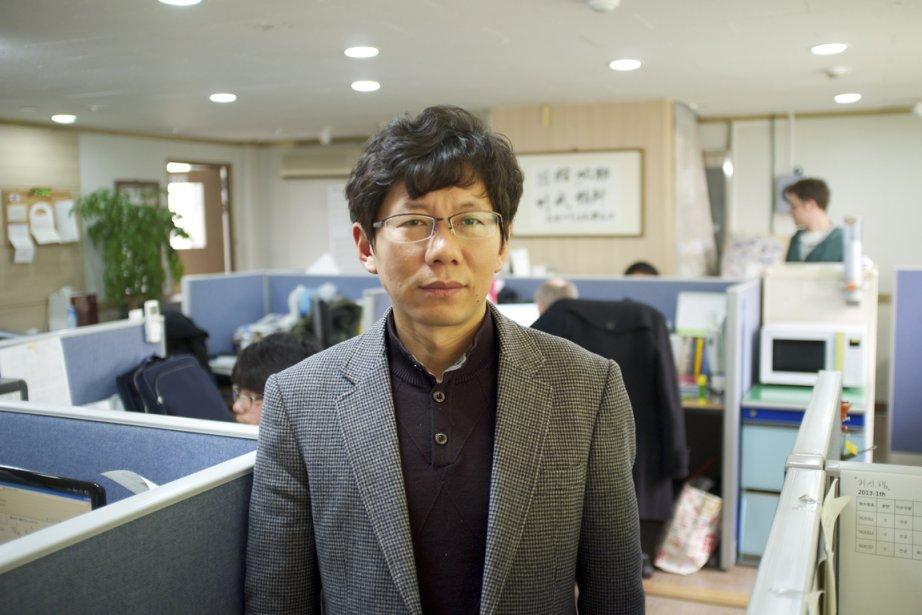 Kim Yun-Tae, secrétaire général du Réseau pour la... (PHOTO NICOLAS BÉRUBÉ, LA PRESSE)