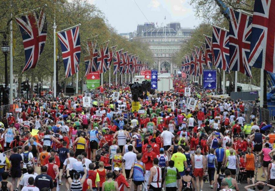 Le marathon de Londres en avril 2010... (Photo: AP)