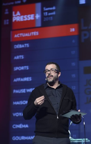 Benoit Giguère, Directeur principal, Design, Interactivité et Expérience Usager, La Presse. | 17 avril 2013