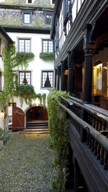 La charmante cour du musée Alsacien. (PHOTO SARAH-ÉMILIE NAULT, COLLABORATION SPÉCIALE)
