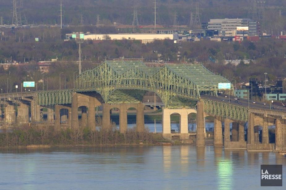 Le pont Champlain... (Photo Bernard Brault, archives La Presse)