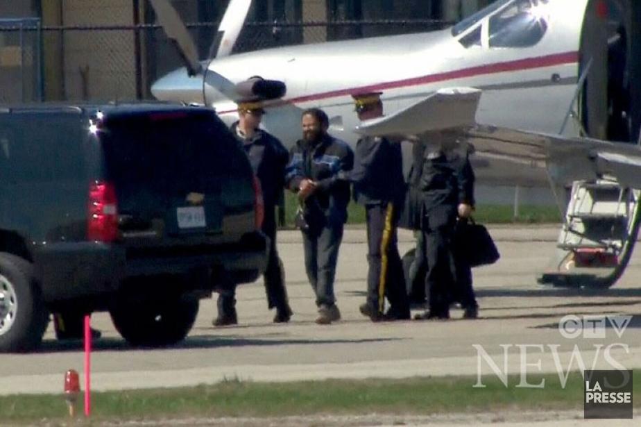 Le suspect montréalais Chiheb Esseghaier a été transféré... (Image tirée d'une vidée, CTV News)