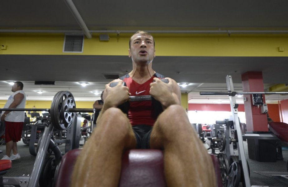 Lucian Bute à l'entraînement. | 23 avril 2013