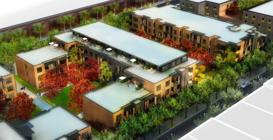 Grâce aux jardins privés et aux vastes cours intérieures, les espaces verts couvriront environ 50% du terrain. | 23 avril 2013