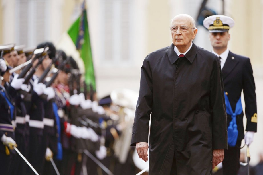 Le président Giorgio Napolitano.... (PHOTO FILIPPO MONTEFORTE, AFP)