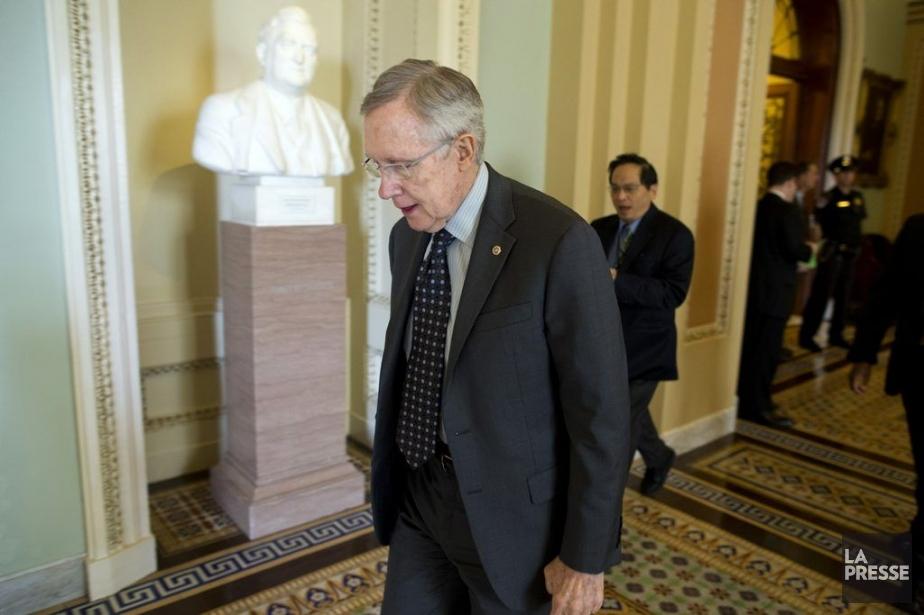 Le chef de la majorité démocrate du Sénat... (Photo AP)