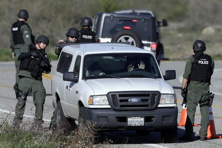 Le 7 février dernier, des officiers du LAPD... (Photo: AP)