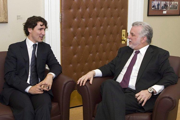 Justin Trudeau et Philippe Couillard se sont rencontrés... (Photo: PC)
