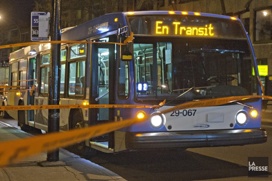 Marc-Olivier Fortin a été agressé dans l'autobus qu'il... (Photo Félix-Olivier Jacques Fournier, collaboration spéciale)